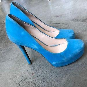 Baby Blue Platform Heels